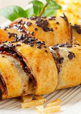 Круассаны с шоколадом - Очень быстрый рецепт