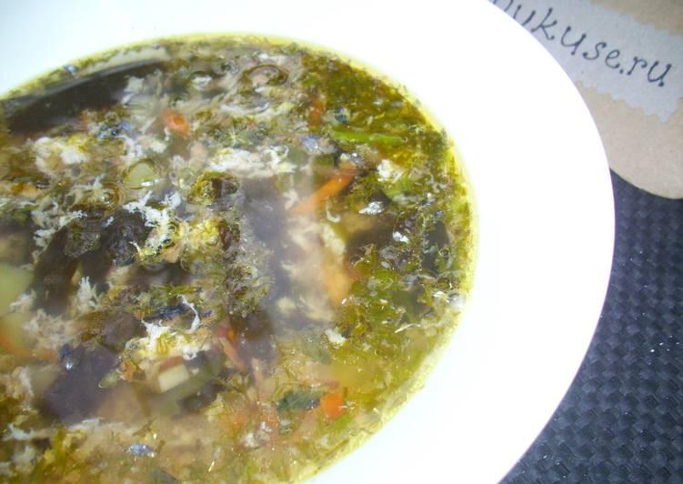 Суп с нори и сайрой