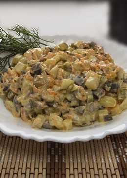 Умопомрачительный салат из утиных желудков (сердца)
