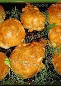 Куриные ножки в мешочках с картошкой и грибами