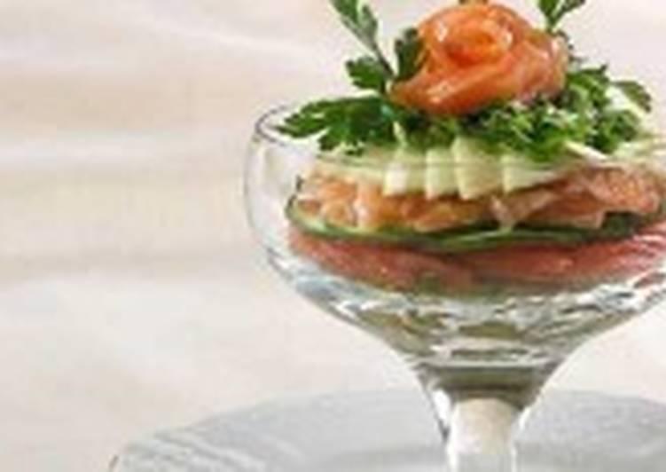 Салат-коктейль с горбушей
