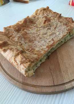 Пирог с сыром и творогом #кулинарныймарафон