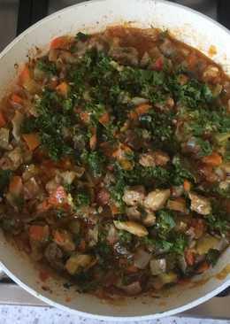 Рагу мясное с овощами