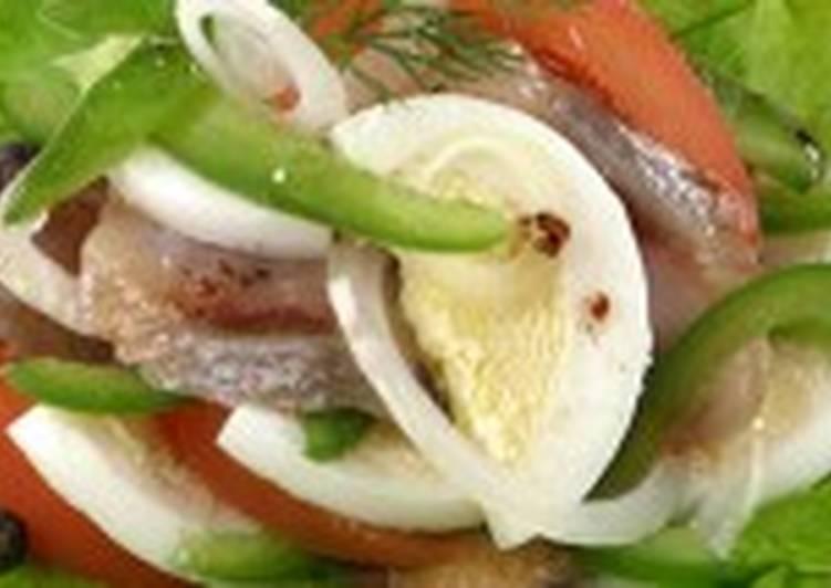 Салат из сельди с перцем