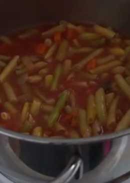 Стручковая фасоль в соусе