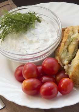 Картофельные палочки (крокеты) с беконом и сыром без муки и соус