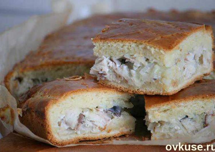 Пирог со скумбрией. замечательное тесто