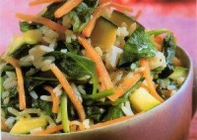 Жареный рис с зеленью