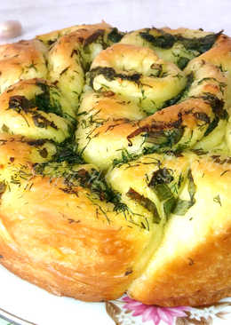 Булочка с зеленью в духовке. Вкуснее не бывает!
