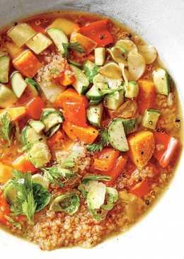 Вегетарианский овощной супчик