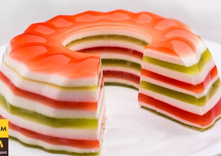 Торт без выпечки из желе