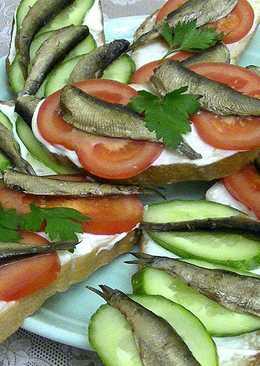 Бутерброды со шпротами (2 варианта)