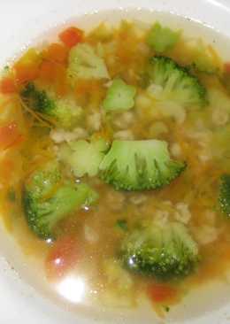 """Суп из брокколи с хлопьями """"Геркулес"""""""