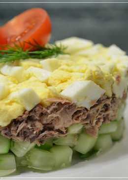 Салат с ТУНЦОМ и огурцом за 15 МИНУТ!