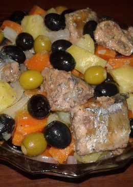 Салат с консервированной сайрой