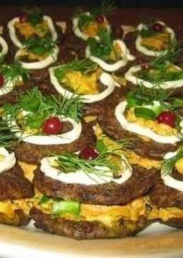 Пирожные из печени