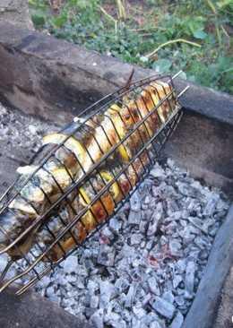 Шашлык из рыбы-мороженной скумбрии