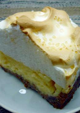 Песочный торт с лимоном и безе