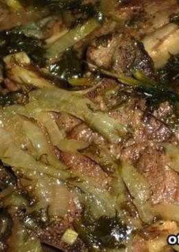Узбекское блюдо - шашлык в казане (казан-кебаб)