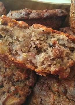 Рассыпчатые кексы с яблоками и орехами