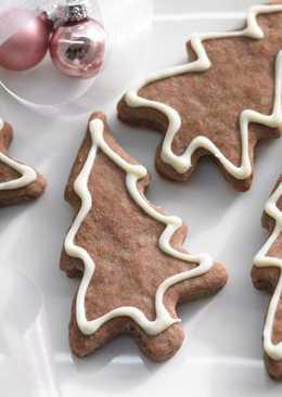Печенье в виде елочки. Красивое домашнее печенье