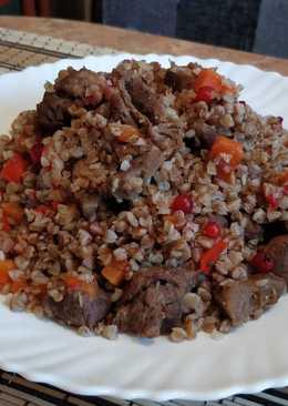Русская кухня: томлёная гречка с мясом