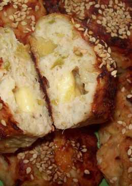 Куриные котлеты с яблоком, болгарским перцем и сыром