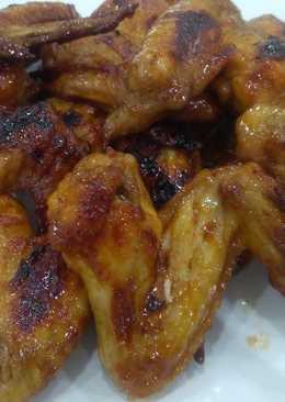 Куриные крылышки в глазури #чемпионатмира#франция