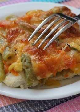 Куриный стейк с овощами