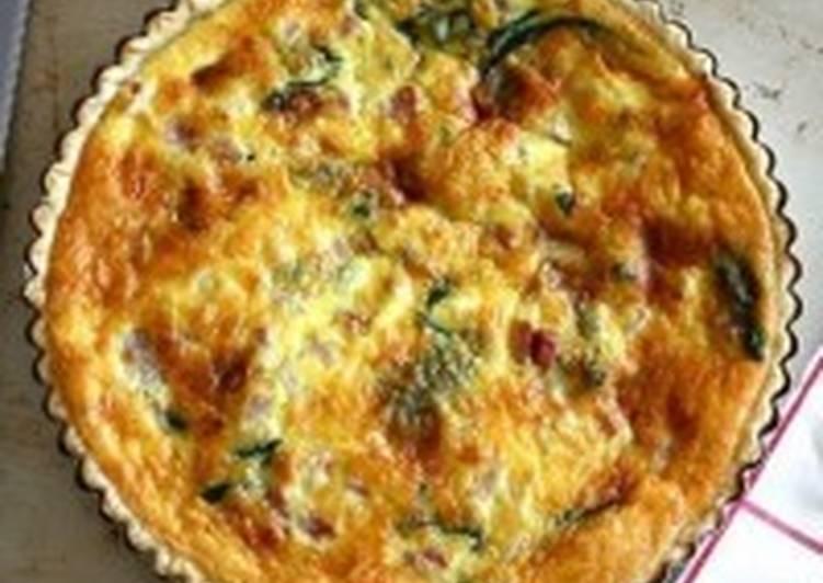 Пирог с ветчиной и шпинатом по-французски