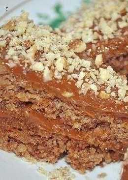 Ореховый торт пятиминутка без муки и масла