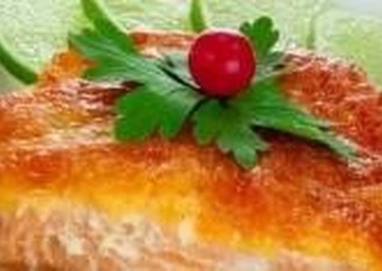 Горбуша с сыром и овощами