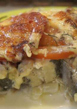 Минтай с помидорами и сыром, вкусный и Легкий ужин за 40 минут