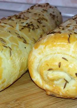 Капустный пирог-рулет – быстрое рассыпчатое тесто и вкусная начинка!