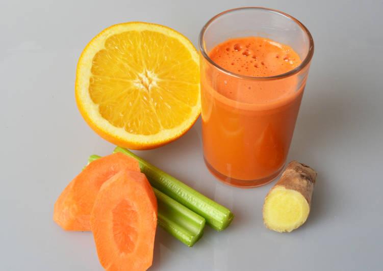 Морковно-апельсиновый фреш с имбирем