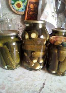 Маринованные огурцы с зернами горчицы #Заготовки