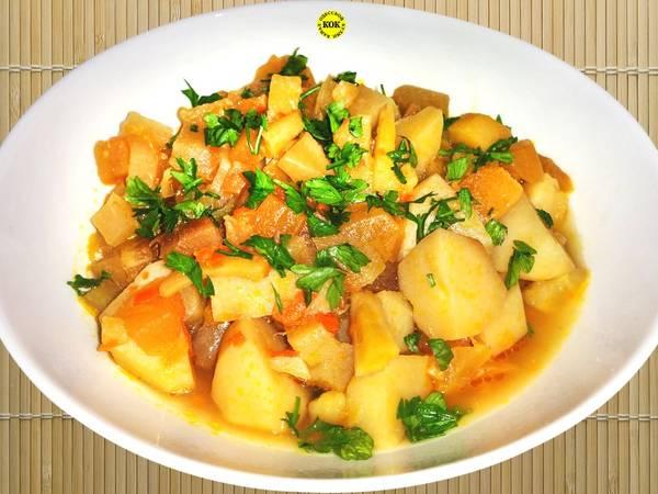 Вкусное и полезное овощное рагу из корнеплодов