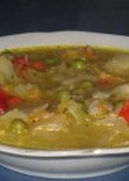 Овощной суп с котлетами