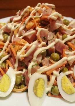 Салат с ветчиной за 5 минут