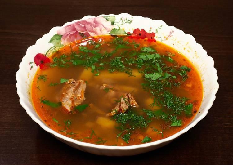 Как приготовить суп с хмели-сунели 3
