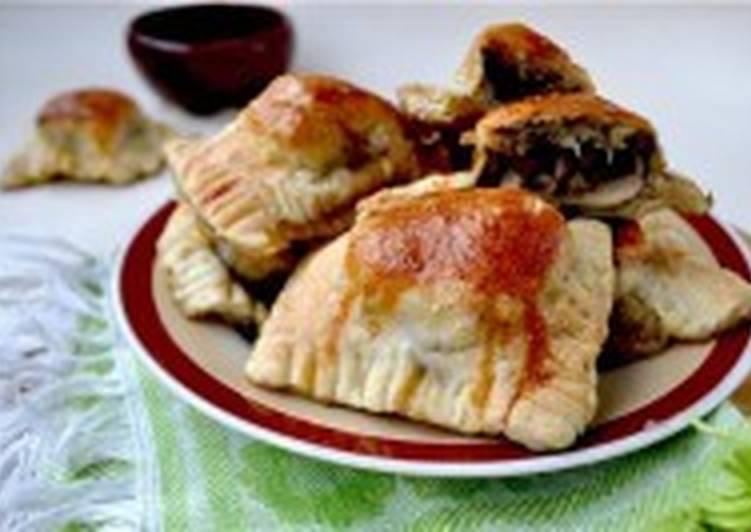 «Равиоли» печёные с грибами и сыром