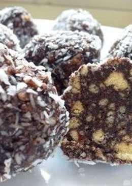 Шоколадные шарики с печеньем