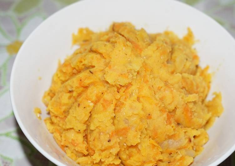Гороховая каша с луком и морковью