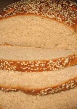 Хлеб из ржаной муки с кунжутом