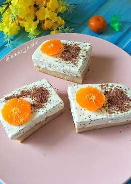 Полезные пирожные с творожно-маковым суфле