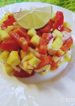 """""""Копакабана"""" бразильский салат с манго и перцем. #Чемпионатмира #Бразилия"""