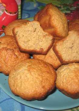 Овсяно-творожные кексы с мятным сиропом