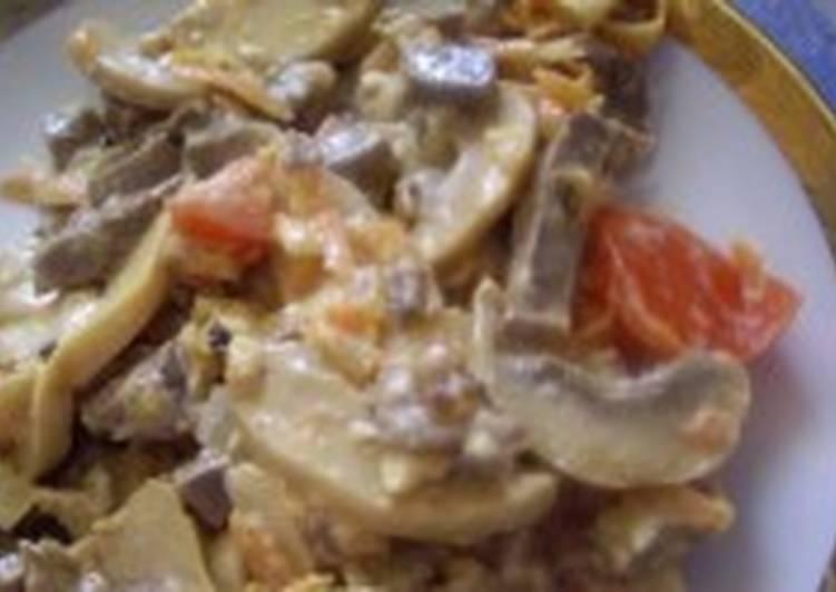 Салат из спаржи и грибов с горчичной заправкой