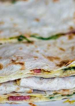 Супербыстрый завтрак - Хрустящие бутерброды в лаваше