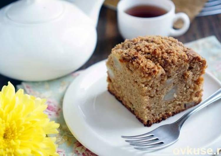 Грушевый пирог с крамблом
